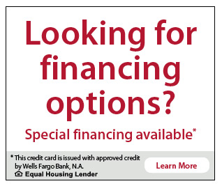 Financing Options Available From Wells Fargo Information and CTA Box | Homesense Heating and Cooling